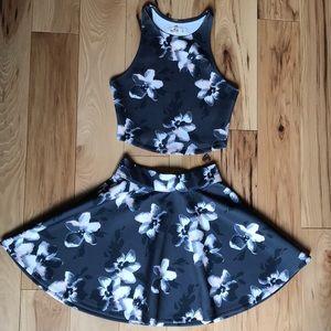 Floral Hollister 2-piece dress